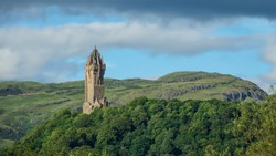 Wallace monument with Ochil hills in the distance