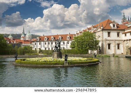 walleinstein palace at central Prague famous turistic place