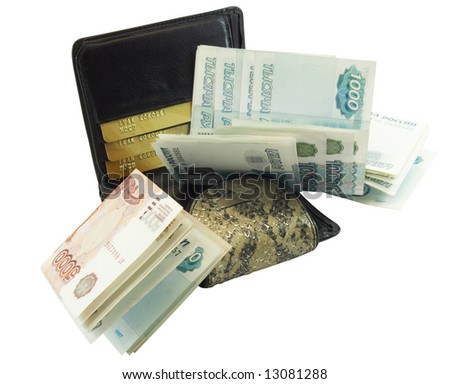 Wallet for money and cards