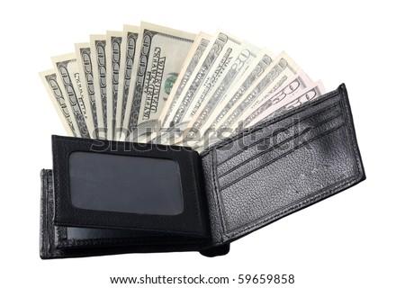 wallet full of hundred-dollar bills