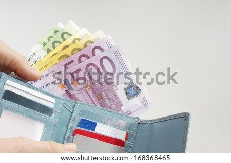 Wallet Full of Money Foto stock ©