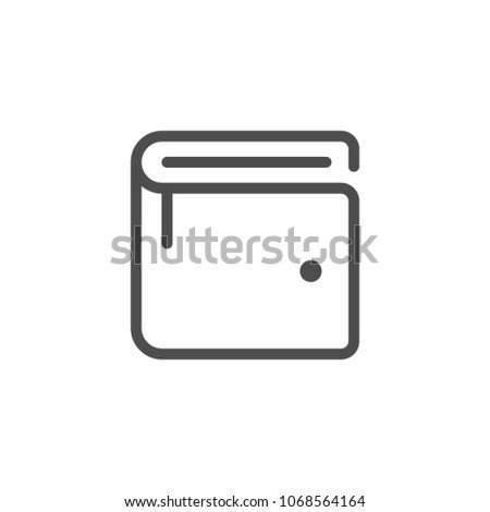Wallet line icon isolated on white
