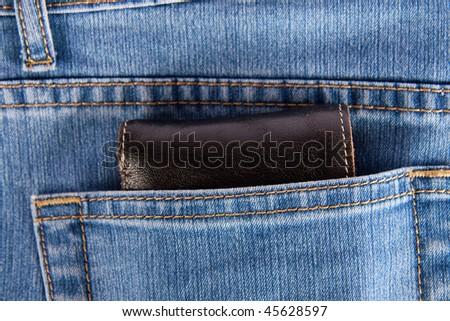 Wallet Jeans Pocket Wallet Showing in Back Pocket