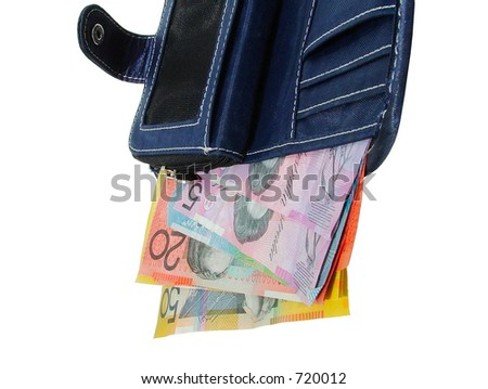 wallet with australian money