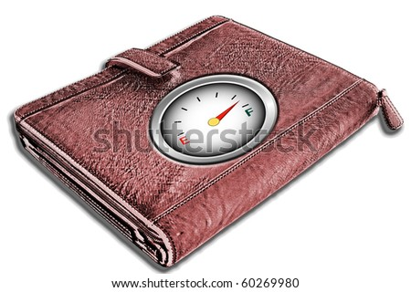 Wallet with gauge on cover illustration