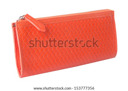 wallet. woman wallet on background