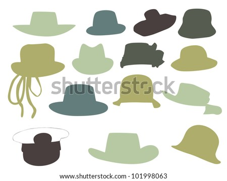 Wallets collection silhouette  illustration isolated on white background.