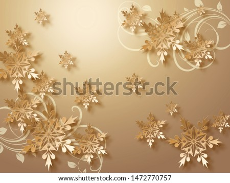 Wallpaper Gold Flowers And Background Gold 3rd Decor in Home