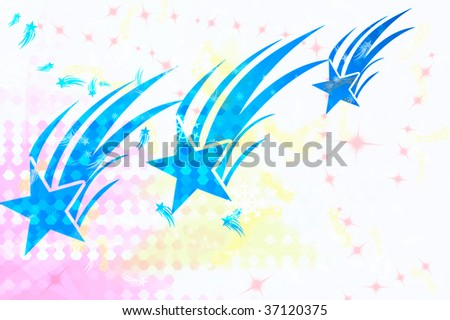 blue stars wallpaper. stock photo : wallpaper illustration with three lue stars