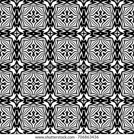 Wallpaper in the vintage style. seamless   pattern. black, white