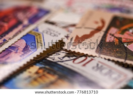 Wallpaper old postage stamps #776813710