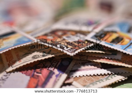 Wallpaper old postage stamps #776813713