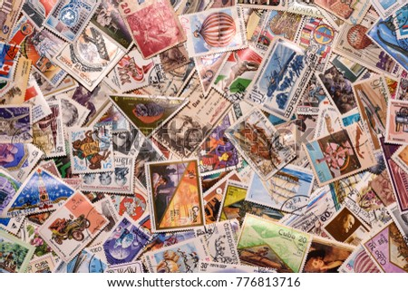 Wallpaper old postage stamps #776813716
