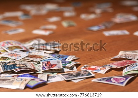 Wallpaper old postage stamps #776813719