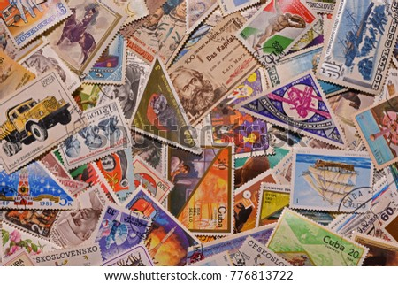 Wallpaper old postage stamps #776813722