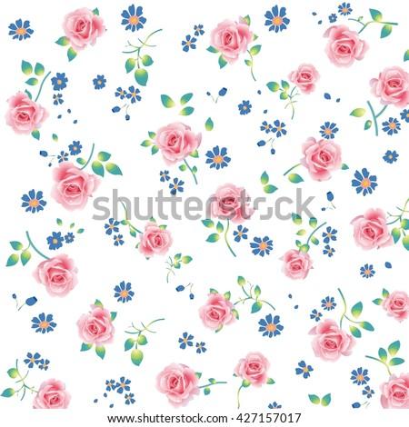 Wallpaper vintage pink flower pattern ez canvas wallpaper vintage pink flower pattern mightylinksfo