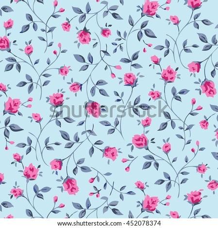 Seamless Little Flower Pattern In Vintage Style Seamless Pattern In