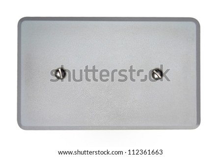 Wallplate isolated on white background