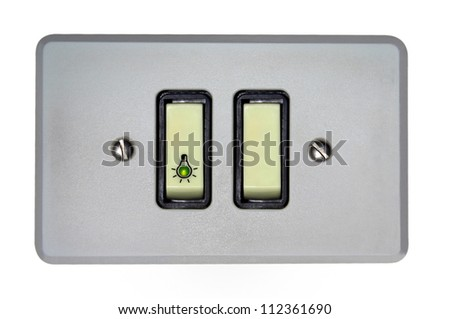 Wallplate isolated on white background - stock photo