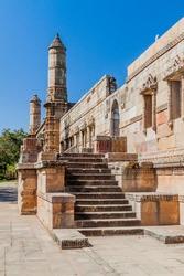 Walls at Jami Masjid mosque in Champaner historical city, Gujarat state, India