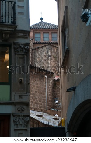 Walls of houses in Barcelona, Spain