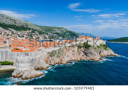 Walls surrounding Dubrovnik Old Town