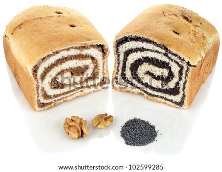 Walnut and Poppy Cake with Ingredients