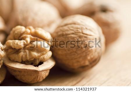 Walnut close up
