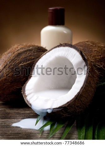 walnut coconut milk with bath cream