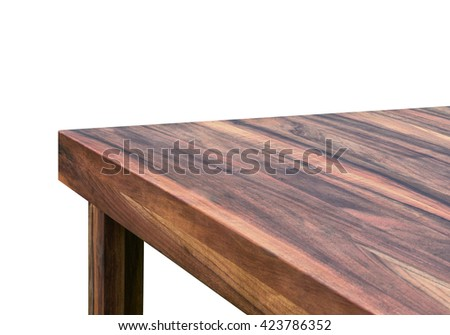 walnut corner table #423786352