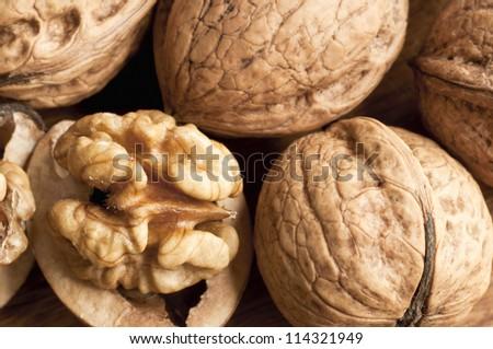 Walnut detail - stock photo