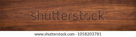 Walnut wood texture. Super long walnut planks texture background. #1058203781