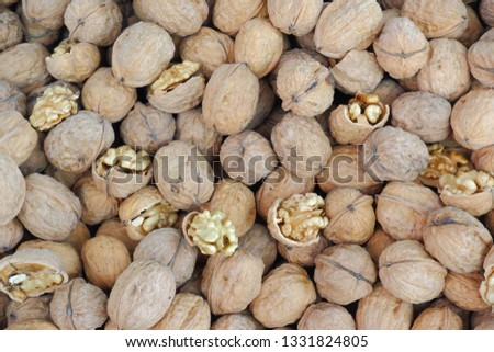 walnuts, a lot walnut not cleaned and cleaned #1331824805