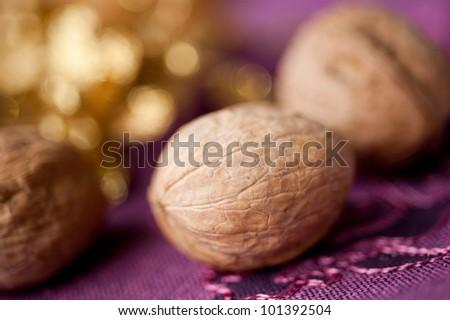 Walnuts closeup - stock photo