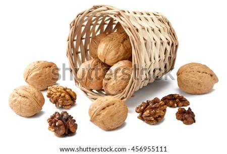 walnuts in the basket #456955111