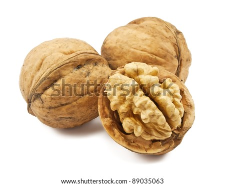 walnuts isolated on a white background