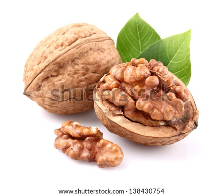 Shutterstock Walnuts with leaves