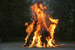 Walpurgis Night, mayfire, burning of the witches. Traditional european feast day.