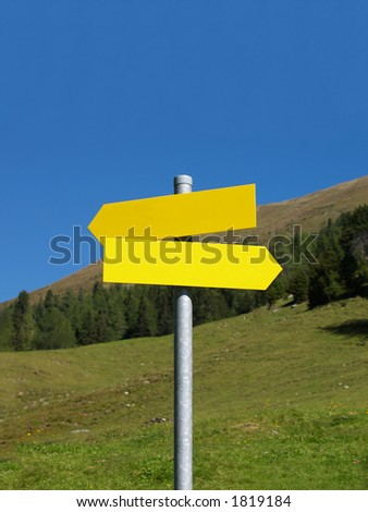 Wanderers Sign in the Austrian Alps