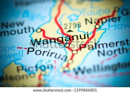 Wanganui New Zealand Map.Shutterstock Puzzlepix