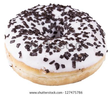 Wanilia donuts on the white background Zdjęcia stock ©
