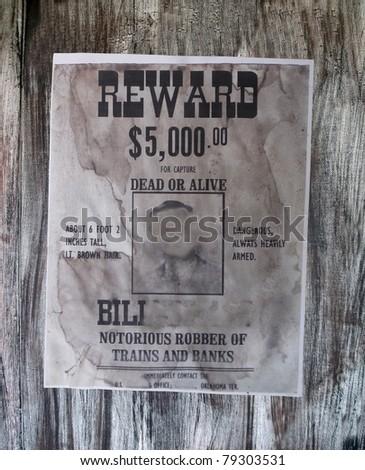wanted danger man (gangster) details. old robber of banks, vintage paper texture.