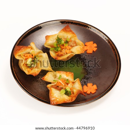 Wantons in the shape of a flower