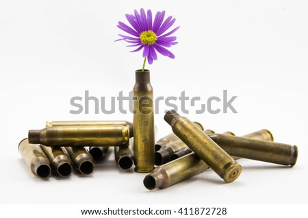 War and Peace, peace-full bullets, peace full bullets, bullets with flower, gun bullets shell