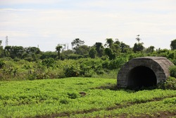 War bunker in Padang, Indonesia. from second world war