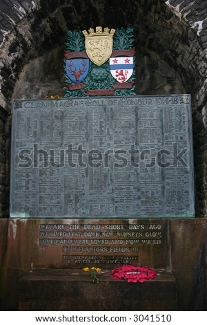 War Memorial Eileen Donan Castle