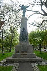 War Memorial on King's Square in downtown Saint John, New Brunswick NB, Canada.