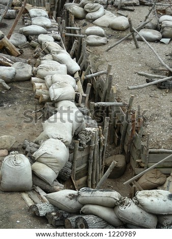 """war set decoration for movie """"Guards of Riga"""" - stock photo"""