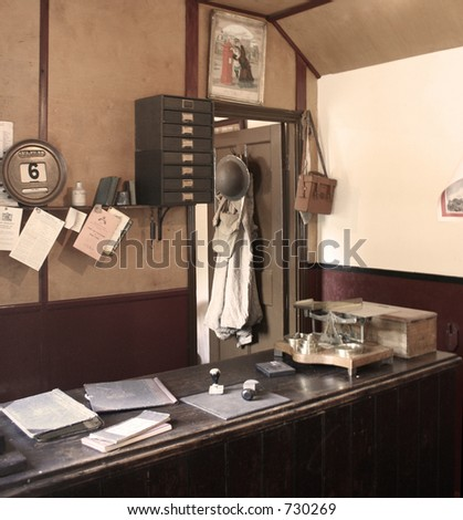 war time post office 1940's britain