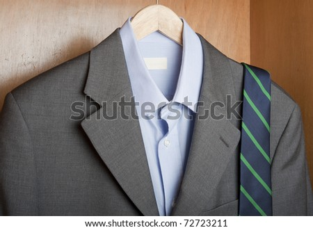 wardrobe and classic businessman outfit
